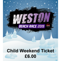 Child (4-12) Weekend Ticket - Weston Beach Race 2019 - £6.00